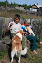 Кислоканцы со своими собаками