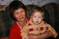 Лилия Михайловна Ёлдогир с внучкой