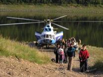 Вертолет прилетел