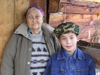 Надежда Тимофеевна Хадончина с внуком