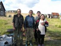 Семья Бунеевых на стойбище
