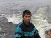 На лодке по озеру на охотничий участок (Сергей Федорович Кильмагер)
