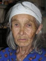 Пелагея Петровна Серкова (1926 г. рожд.), старейшая жительница Мадуйки